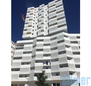 Weißer Beton – Öko-Nachbarschaft Allar